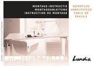 Monatgeanleitung Arbeitsplatz pdf - Lundia
