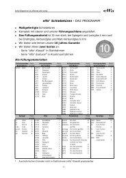 elfa® Schiebetüren - DAS PROGRAMM - Lundia