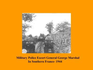 U.S. Army Military Police Corps History: WWII to ... - MPRA Online