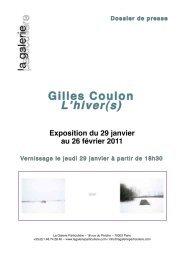 Dossier de presse - La Galerie Particulière
