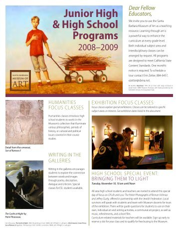 Junior High & High School Programs - Santa Barbara Museum of Art