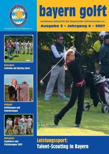 Leistungssport: Talent-Scouting in Bayern - Bayerischer Golfverband