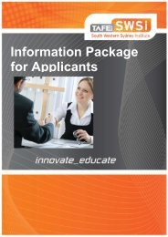 Information Package - South Western Sydney Institute - TAFE NSW