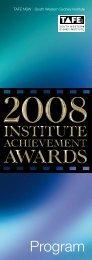 IAA Program 2008 - South Western Sydney Institute - TAFE NSW
