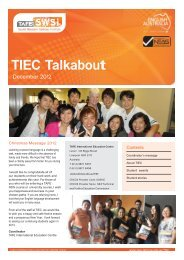 TIEC Talkabout - South Western Sydney Institute - TAFE NSW