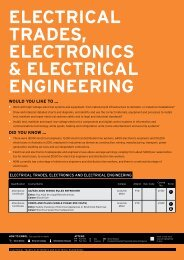 electrical trades, electronics & electrical engineering