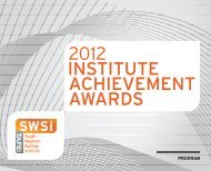 the 2012 - South Western Sydney Institute - TAFE NSW