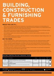 BuILDING, CONSTRuCTION & FuRNISHING TRADES - TAFE NSW