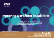 Disability Services Australia - South Western Sydney Institute - TAFE ...