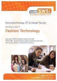 Fashion Technology - South Western Sydney Institute - TAFE NSW