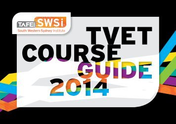 TVET Course Guide - South Western Sydney Institute - TAFE NSW