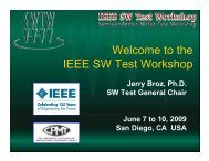Welcome to the IEEE SW Test Workshop - Semiconductor Wafer ...