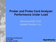 Prober and Probe Card Analyzer Performance Under Load