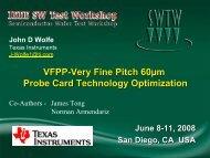 VFPP-Very Fine Pitch 60uM Probe Card Technology Optimization