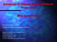 Advances in Conventional Cantilever Probe Cards