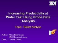 Increasing Productivity at Wafer Test Using Probe Data Analysis
