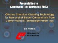 SWTW 2003 - Wentworth Laboratories - Semiconductor Wafer Test ...