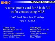 A novel probe-card for 8 inch full wafer contact using MLS