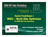 MSO – Multi Site Optimizer - Semiconductor Wafer Test Workshop