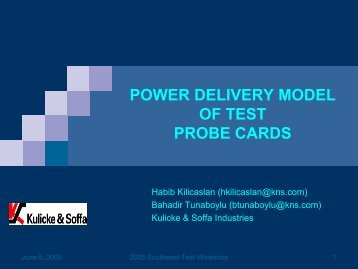 POWER DELIVERY MODEL OF TEST PROBE CARDS