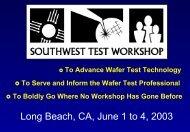 SWTW-2003 - Semiconductor Wafer Test Workshop