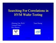 Searching For Correlations in HVM Wafer Testing