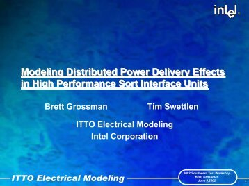 Modeling Distributed Power Delivery Effects in High Performance ...