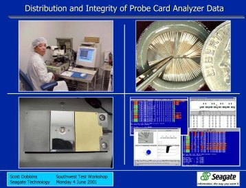 Distribution and Integrity of Probe Card Analyzer Data