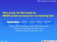 The New Probe Tip Fabricated by MEMS (LIGA Process)