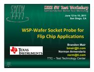 WSP Wafer Socket Probe for Flip Chip Applications - Semiconductor ...