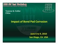 Impact of Bond Pad Corrosion - Semiconductor Wafer Test Workshop