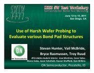 Use of Harsh Wafer Probing to Evaluate Various Bond Pad Structures