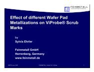 Effect of different Wafer Pad Metallizations on ViProbe® Scrub Marks