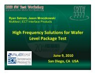 High Frequency Solutions for Wafer Level Package Test