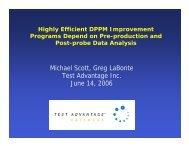 Michael Scott, Greg LaBonte Test Advantage Inc. June 14, 2006