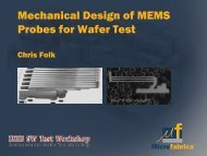 Mechanical Design of MEMS Probes for Wafer Test