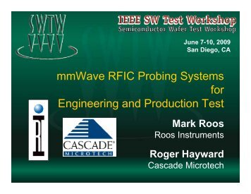 mmWave RFIC Probing Systems for Engineering and Production Test