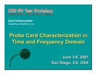 Probe Card Characterization in Time and Frequency Domain