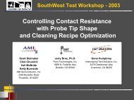 Controlling Contact Resistance with Probe Tip Shape and Cleaning ...
