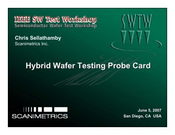 Hybrid Wafer Testing Probe Card - Semiconductor Wafer Test ...