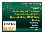 An Advanced Cantilever Probe Card with 6GHz Bandwidth for RFIC ...