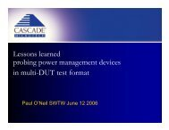 Lessons learned probing power management devices in multi-DUT ...