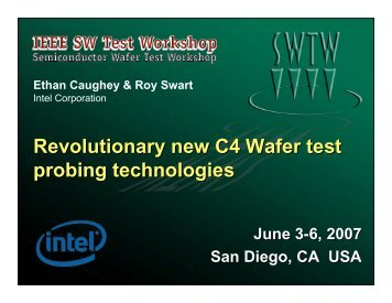 Revolutionary new C4 Wafer test probing technologies