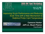 Improving Scrub Performance and Reducing Soak Time with a New ...