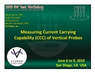 Measuring Current Carrying Capability (CCC) of Vertical Probes ...