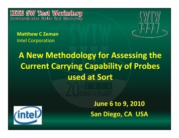 A New Methodology for Assessing the Current Carrying Capability of ...