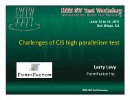 Challenges of CIS High Parallel Test - Semiconductor Wafer Test ...