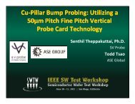 Cu-Pillar Bump Probing: Utilizing a 50µm Pitch Fine Pitch Vertical ...