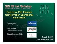 Control of Pad Damage Using Prober Operational Parameters