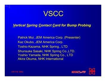 VSCC: Vertical Spring Contact Card for Bump Probing